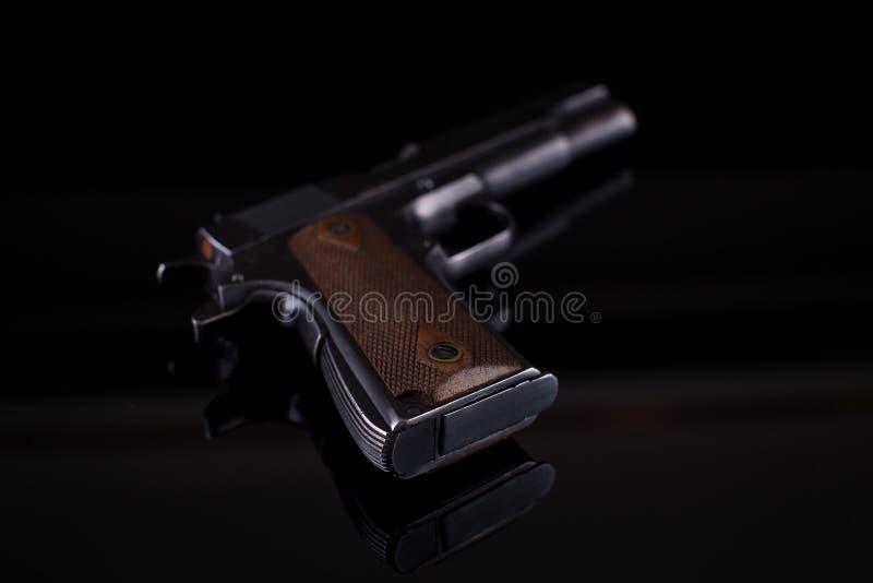 在黑色的手枪1911年 图库摄影