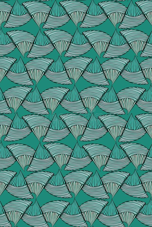 在绿色的抽象海壳 向量例证