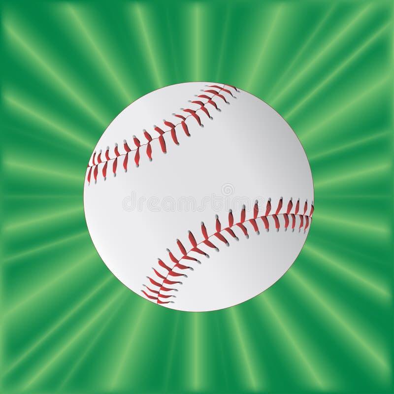 在绿色的棒球 库存例证
