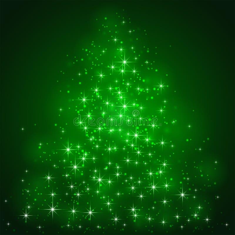 在绿色背景的星 皇族释放例证