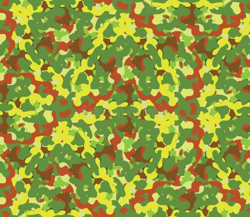 在绿色计划的无缝的传染媒介正方形伪装系列 皇族释放例证