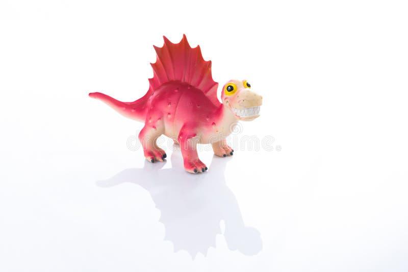 在黑色隔绝的恐龙玩具 库存照片