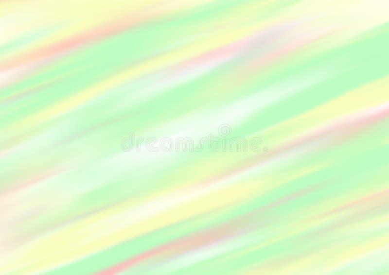 在绿色,红色和黄色的五颜六色的被弄脏的抽象背景 向量例证