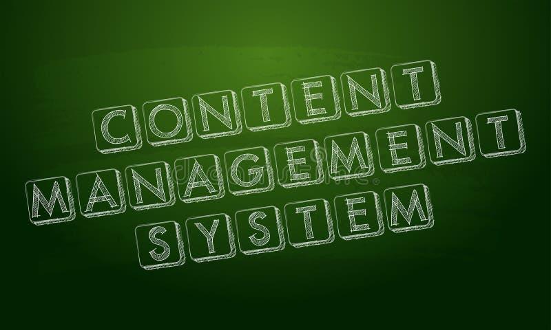 在绿色黑板的美满的管理系统 向量例证