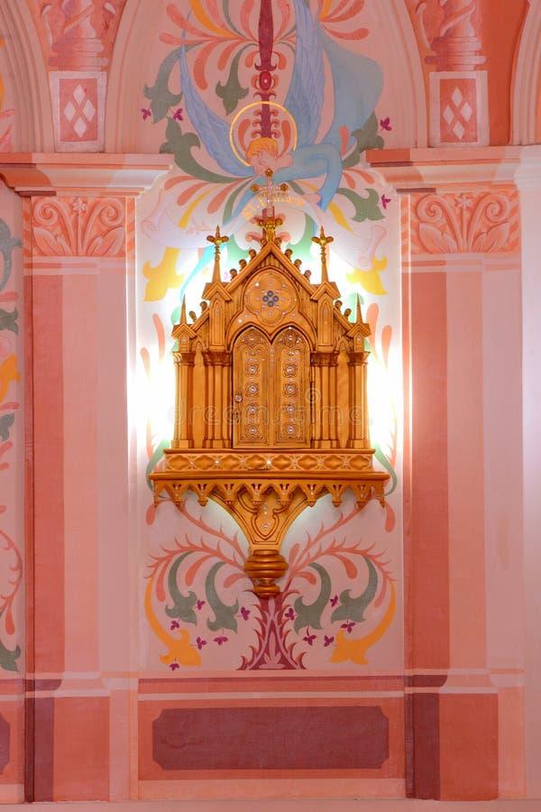 在教会里面,泰国。 库存照片