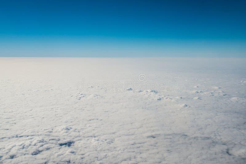 在32,000英尺的云彩 库存图片