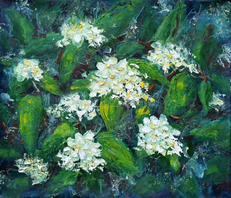 在绿草的夏天五颜六色的花 皇族释放例证