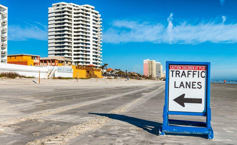 在主要Daytona海滩的路标 免版税库存图片