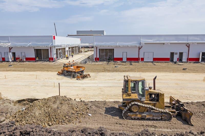 在建造场所的看法上 免版税库存图片