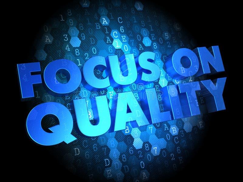 在质量概念-数字式背景的焦点。 免版税库存照片