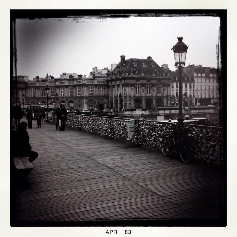 在巴黎锁桥梁 库存照片