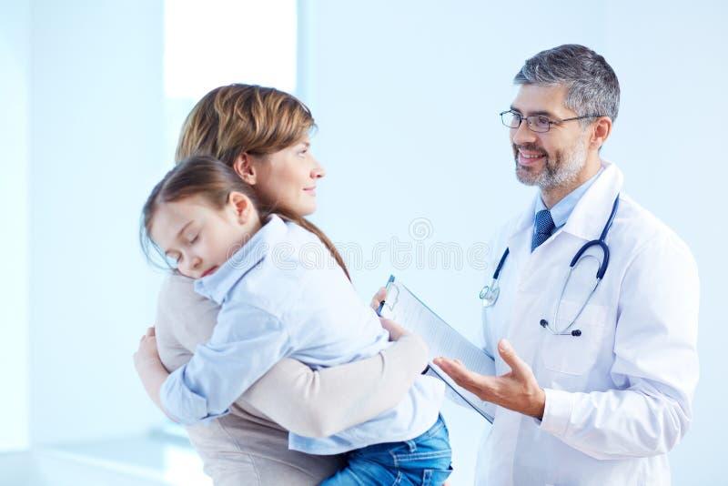在医院 免版税图库摄影