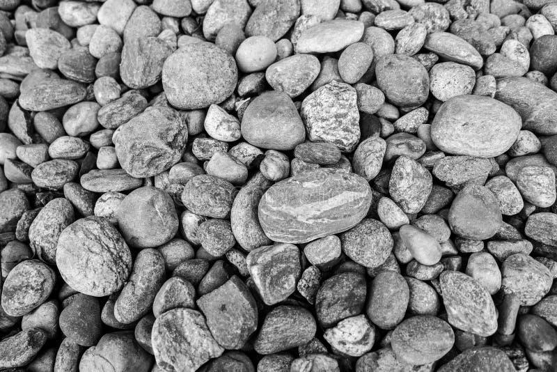 在黑颜色的石头 免版税库存照片
