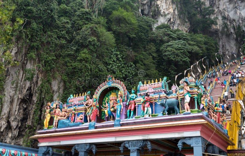 在黑风洞的Himdu寺庙 免版税库存照片