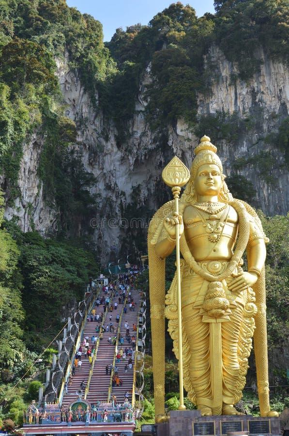 在黑风洞,吉隆坡的Thaipusam 免版税库存照片
