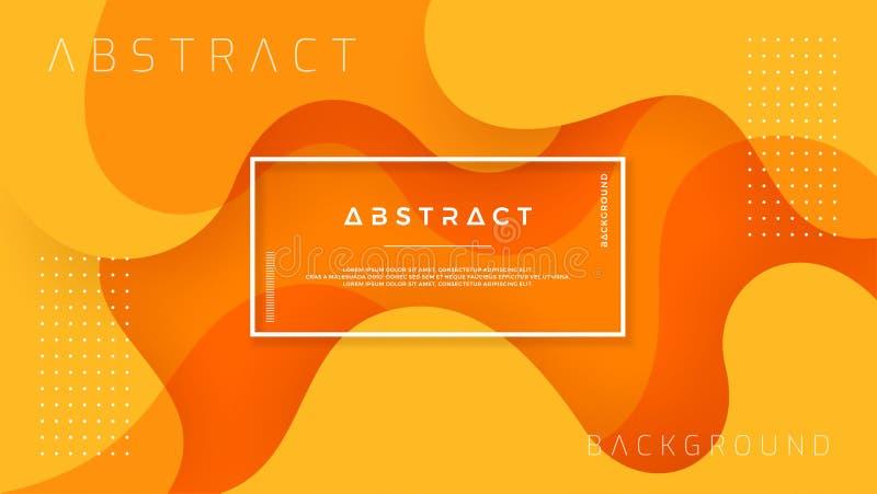 在3D样式的动态织地不很细背景设计与橘黄色 背景eps10向量 库存例证