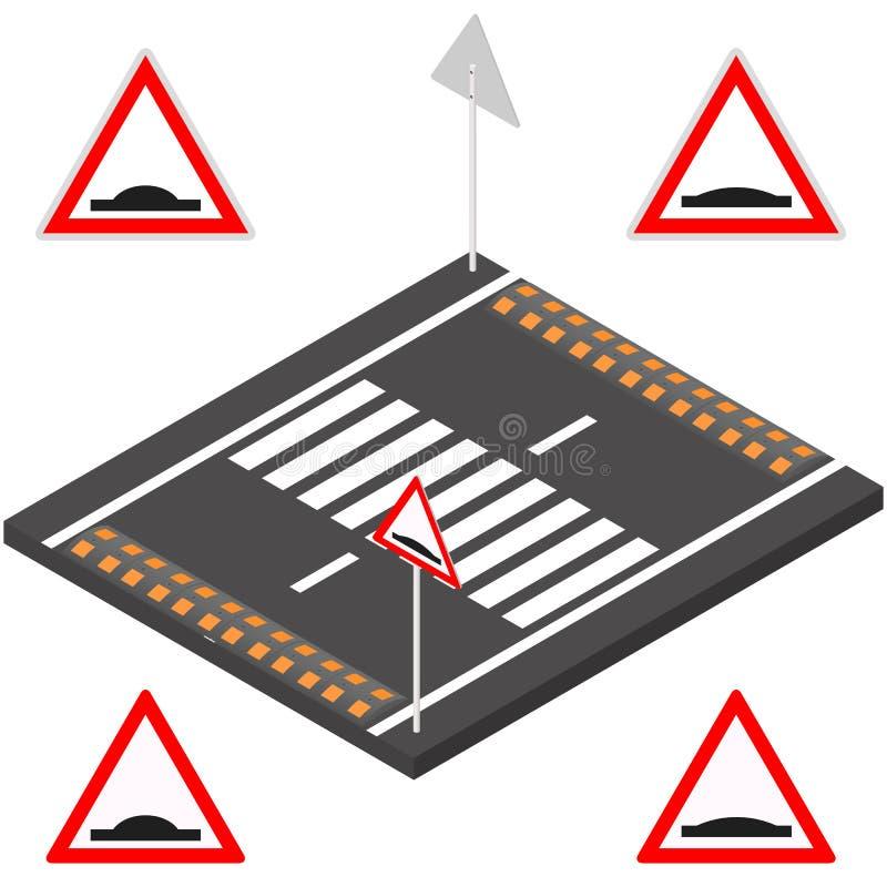 在3D的减速块,传染媒介例证 向量例证