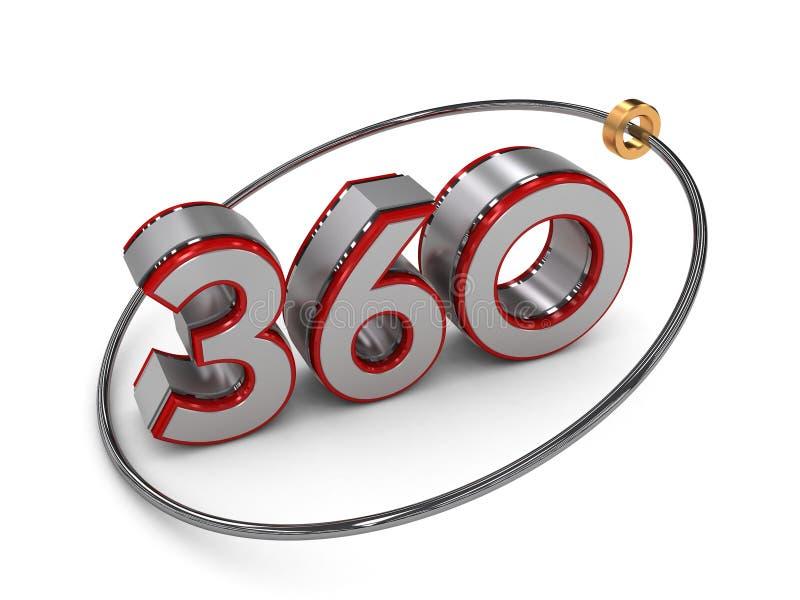 360在3D的文本 库存例证