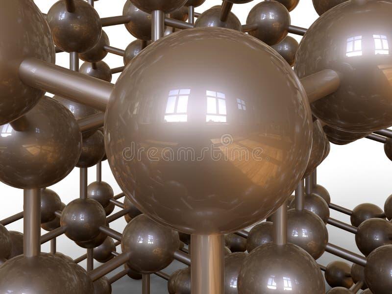 在3D的被互联的网络概念 库存例证