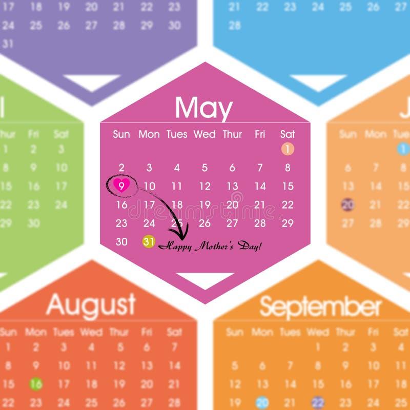 在2010年5月09th日的愉快的母亲节 向量例证