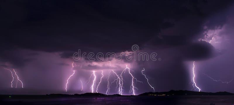 在A的雷暴每夏夜 免版税图库摄影