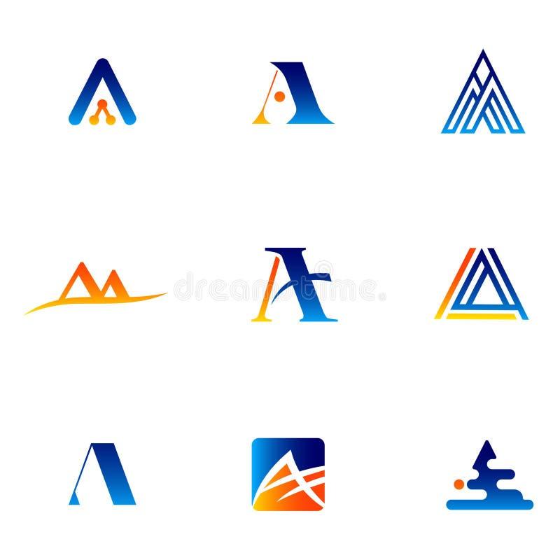 在A -传染媒介商标概念例证上写字 在与检查略写法的A上写字 库存例证