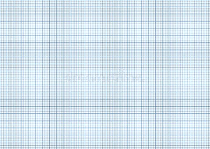 在a4大小水平的板料的一种毫米座标图纸深蓝颜色 皇族释放例证