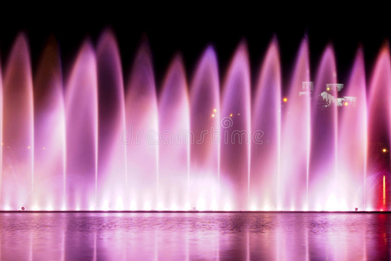 在Abrau湖的供水系统 库存图片
