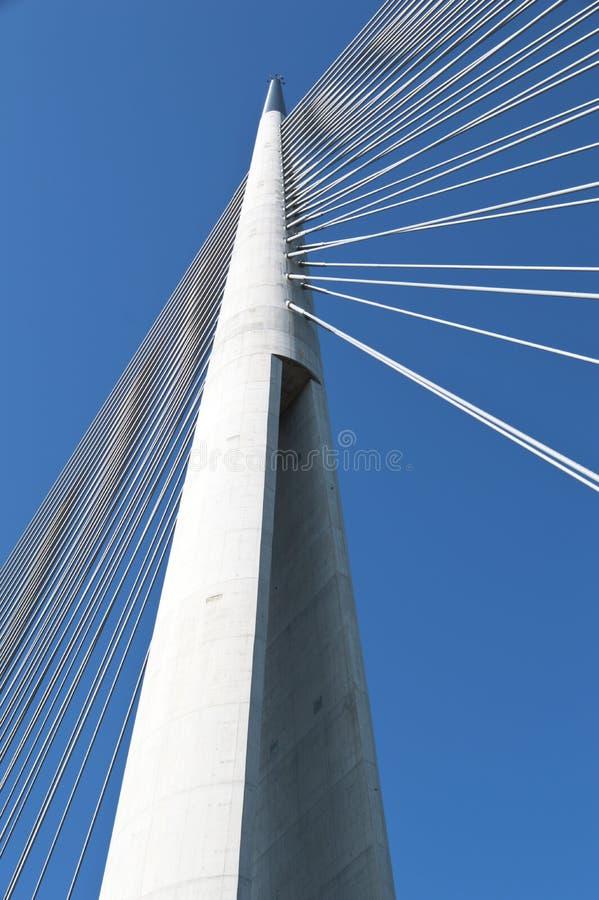在Ada,塞尔维亚的定向塔桥梁 免版税库存图片