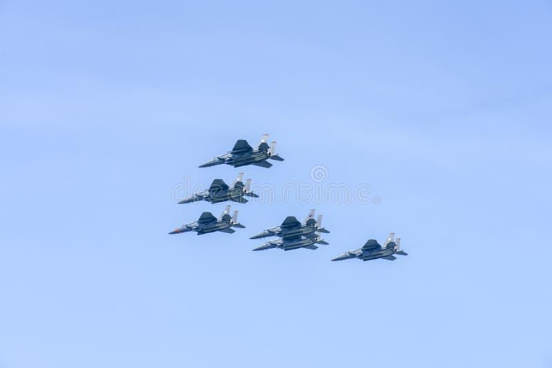 在Airshow期间的F15 图库摄影
