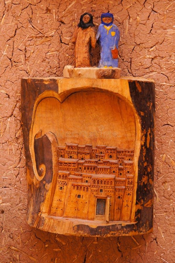 在Ait Benhaddou,摩洛哥的美丽的纪念品 皇族释放例证