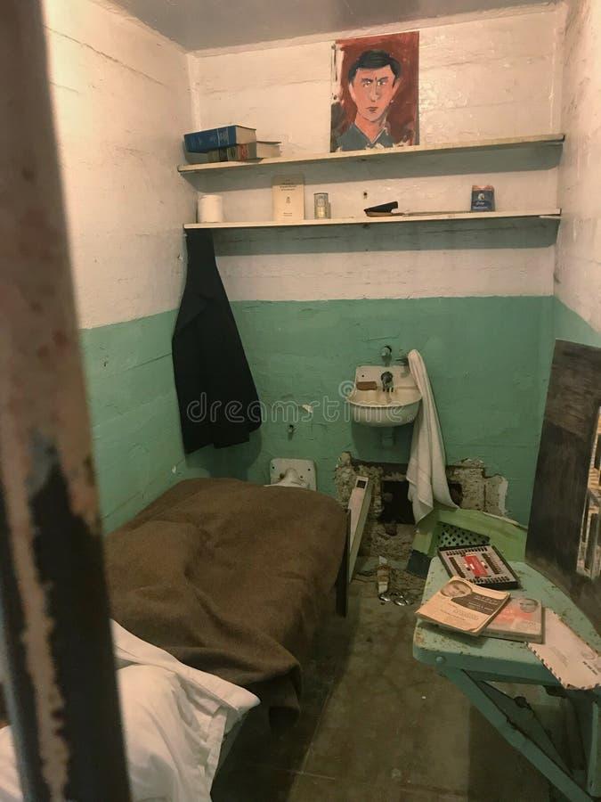 在alcatraz里面监狱  免版税库存照片