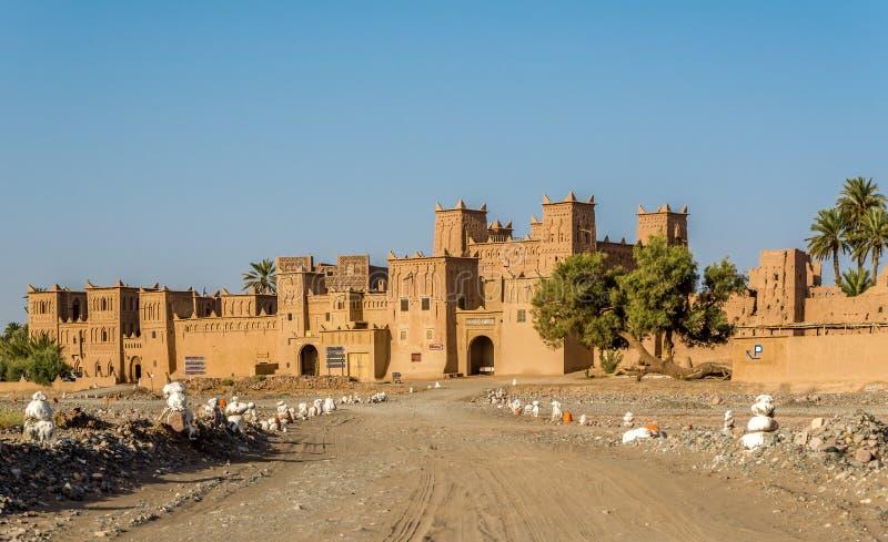 在Amridil斯库拉绿洲-摩洛哥Kazbah的看法  免版税库存照片