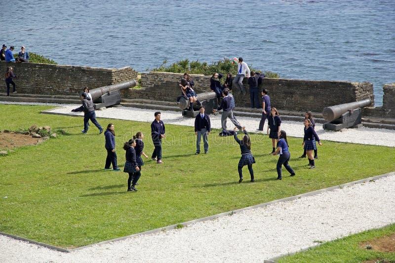 在Ancud, Chiloe海岛,智利的圣安东尼奥堡垒 免版税图库摄影