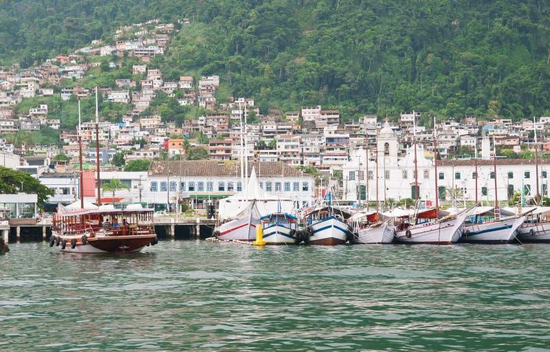 在Angra dos Reis的口岸。里约热内卢 免版税库存图片