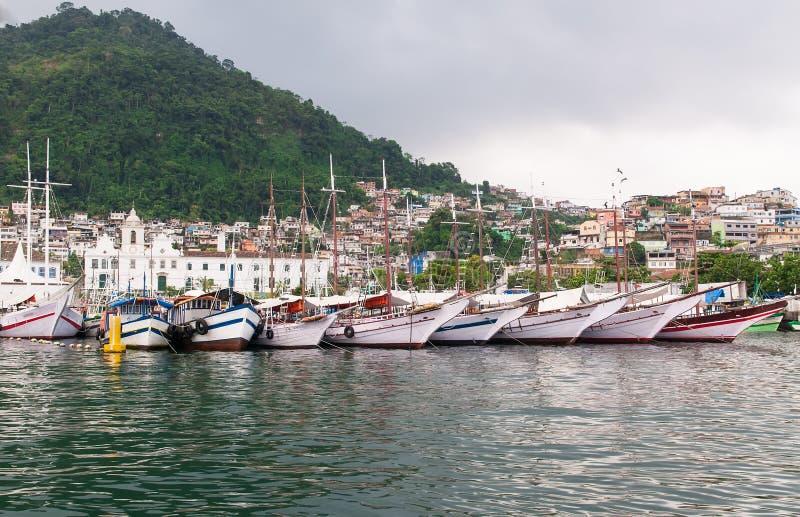 在Angra dos Reis里约热内卢的口岸 免版税库存照片