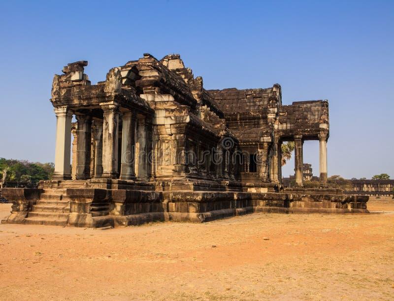 在Angror大桶tempel柬埔寨的大厦 免版税库存照片