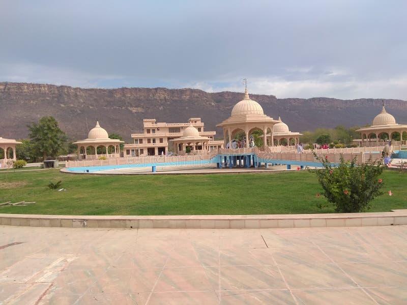 在aravali parvat的伟大的shiv寺庙 免版税库存图片