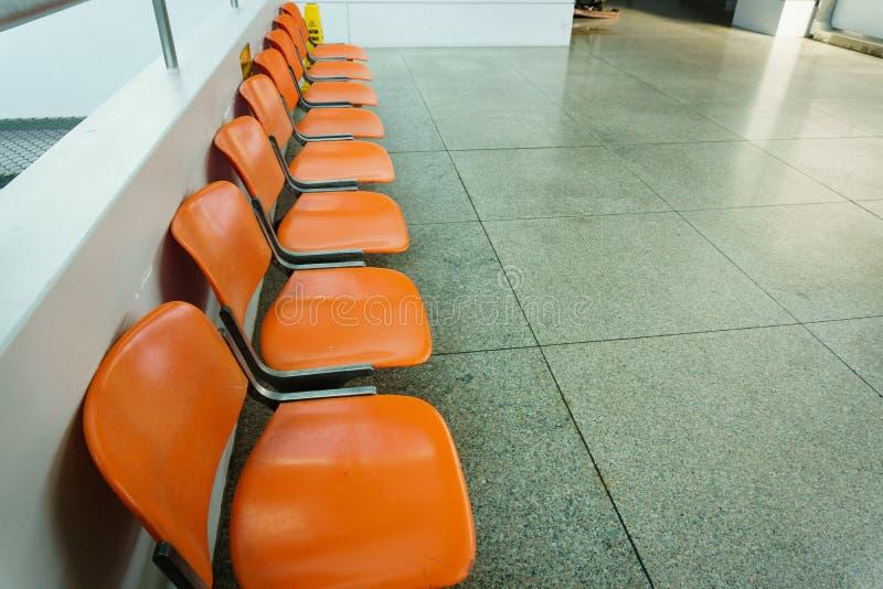 在ariport的等候室就座 免版税图库摄影