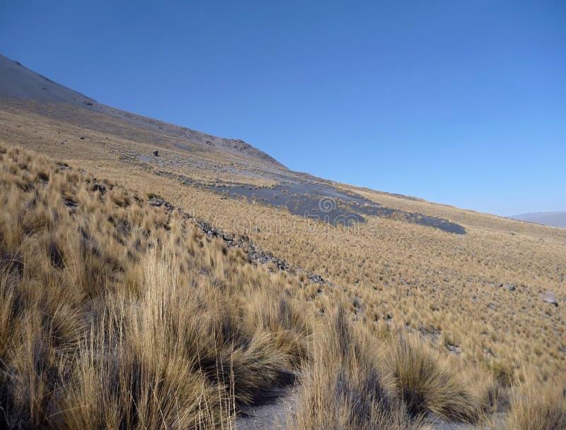 在arwquipa上的火山埃尔米斯蒂火山 库存图片