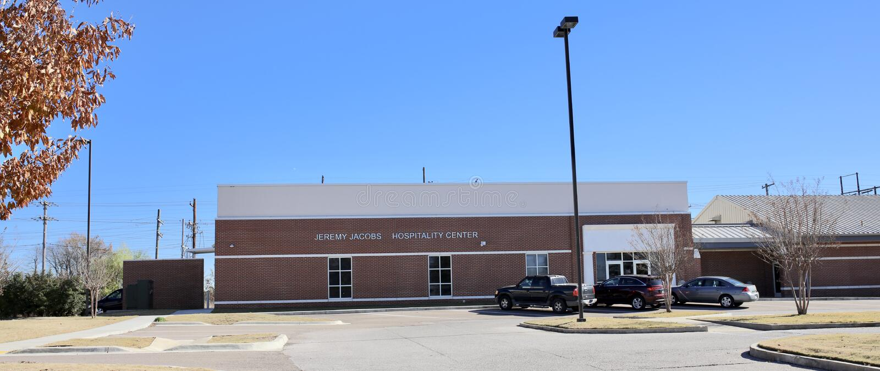 在ASU中间南部的好客中心,西部孟菲斯,阿肯色 免版税库存照片