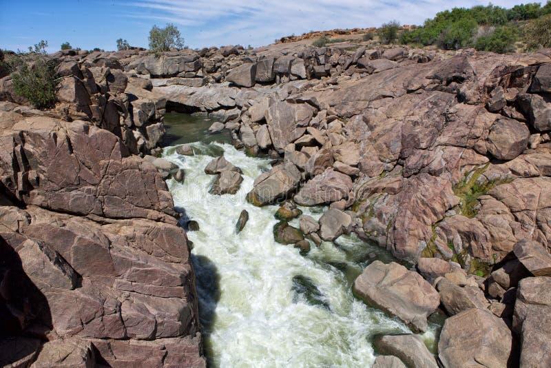 在augrabie的瀑布落国家公园 库存照片