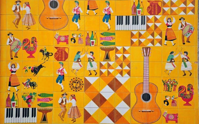 在azulejos的葡萄牙文化 免版税库存图片
