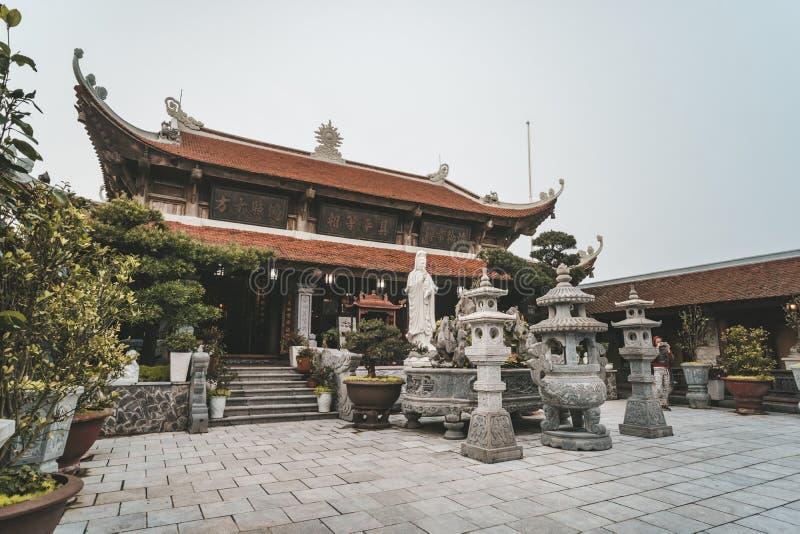 在Ba Na小山,岘港,越南的寺庙 库存图片