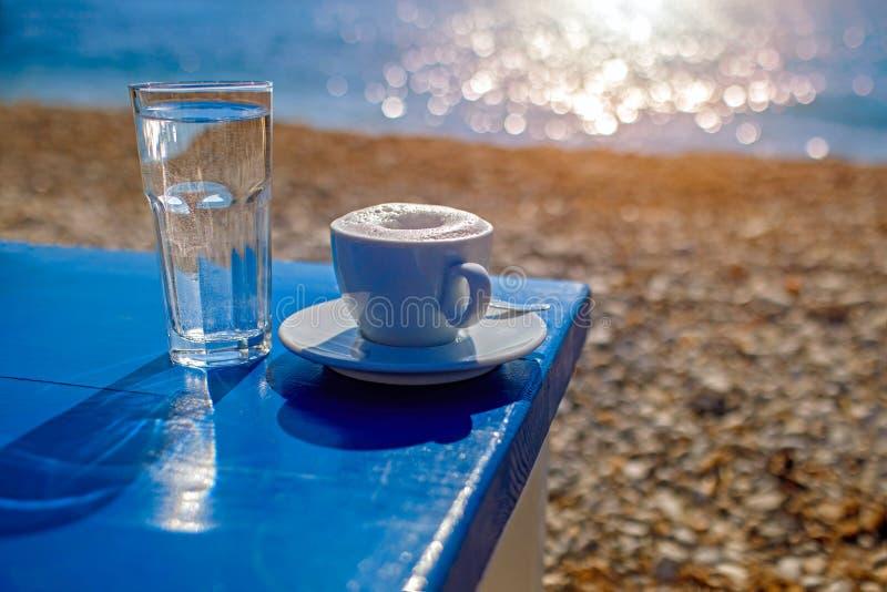 在bach的哀悼的咖啡 库存照片