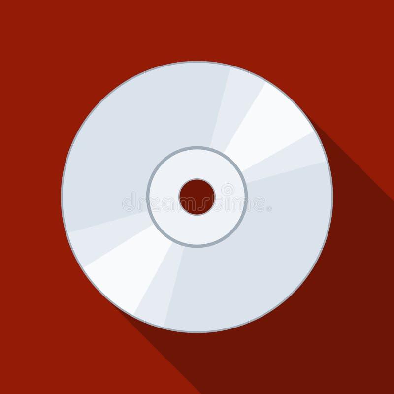 在backgound的CD或DVD象与阴影 光盘数字式光盘数据存储 向量例证