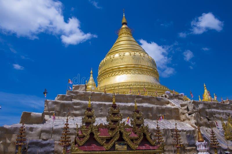在bagan缅甸的阿南达寺庙 免版税库存图片