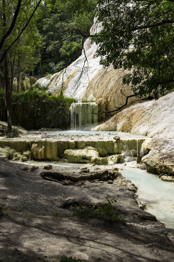 在Bagni圣菲利波的自然温泉 免版税图库摄影