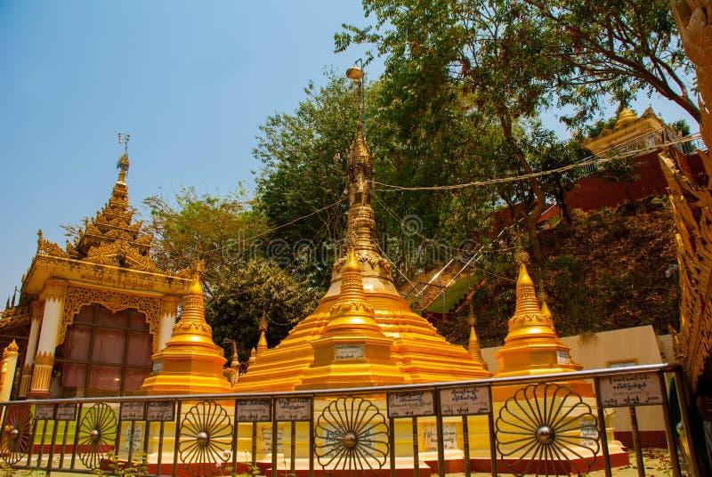 在Bago曲折前进塔, Pegu镇  缅甸 缅甸 库存图片