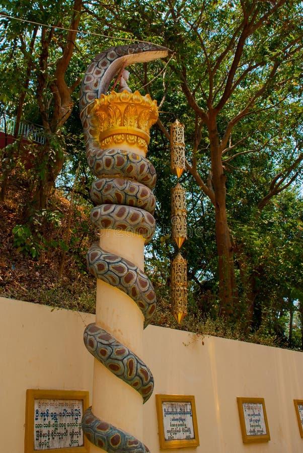 在Bago曲折前进塔, Pegu镇  缅甸 缅甸 免版税库存图片